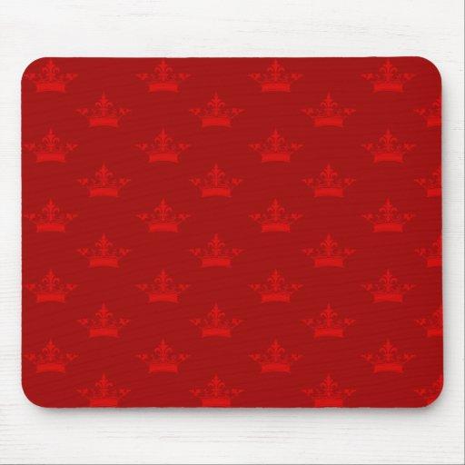 Rojo del modelo de la corona tapete de raton