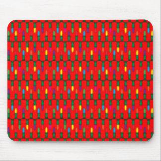 Rojo del modelo de la luz de navidad tapetes de ratón
