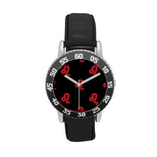 Rojo del modelo de Leo Relojes De Pulsera