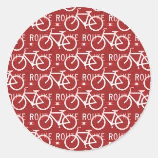 Rojo del modelo del ciclista de la bicicleta de Fi Etiqueta Redonda