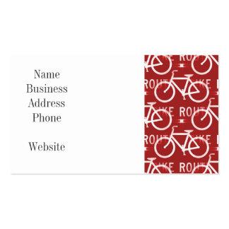 Rojo del modelo del ciclista de la bicicleta de tarjetas de visita