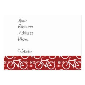 Rojo del modelo del ciclista de la bicicleta de tarjetas de visita grandes