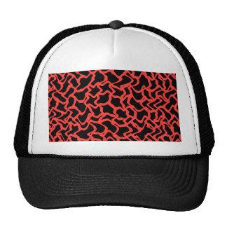 Rojo del modelo gráfico abstracto y negro brillant gorra