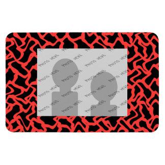 Rojo del modelo gráfico abstracto y negro brillant imanes
