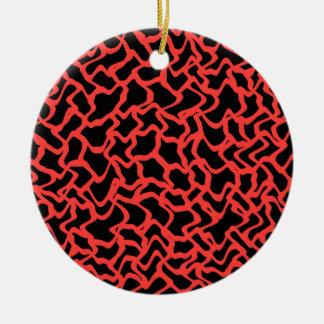 Rojo del modelo gráfico abstracto y negro adorno para reyes