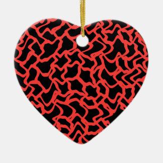 Rojo del modelo gráfico abstracto y negro ornamentos para reyes magos