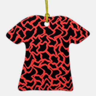 Rojo del modelo gráfico abstracto y negro ornamentos de reyes