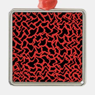 Rojo del modelo gráfico abstracto y negro adorno de navidad