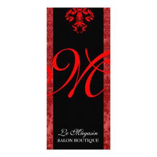 Rojo del monograma de 311 Marley Diseño De Tarjeta Publicitaria