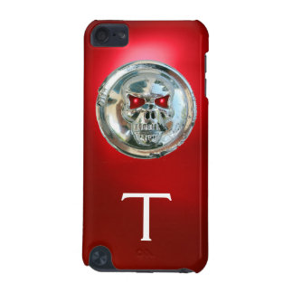 Rojo del MONOGRAMA de los JINETES del CRÁNEO Funda Para iPod Touch 5G