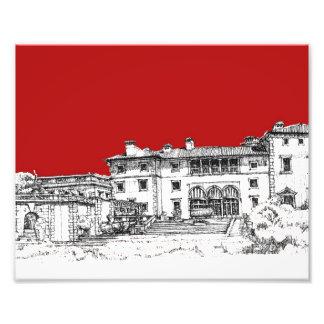 Rojo del museo del renacimiento cojinete