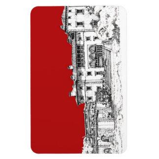 Rojo del museo del renacimiento imán