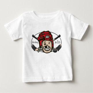 Rojo del niño del hockey playera de bebé