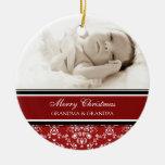 Rojo del ornamento de los abuelos de las Felices Adornos De Navidad