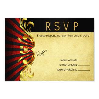 Rojo del oro de Nouveau Vegas RSVP el | del arte Anuncios