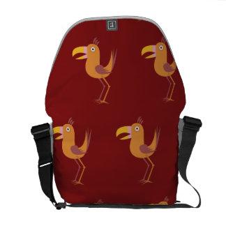 Rojo del pájaro de Tucan Bolsas De Mensajería