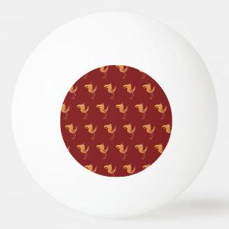 Rojo del pájaro de Tucan Pelota De Ping Pong