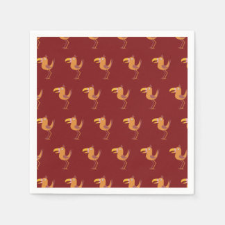 Rojo del pájaro de Tucan Servilletas Desechables