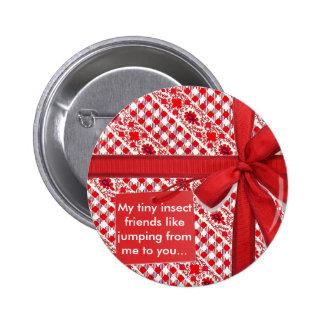 Rojo del papel de embalaje pin redondo de 2 pulgadas