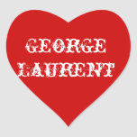Rojo del pegatina del corazón de George