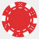 rojo del pegatina del pokerchip