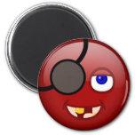 Rojo del pirata iman de nevera
