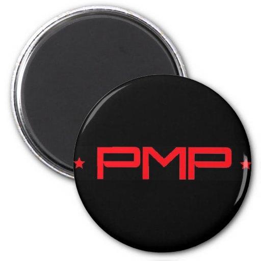 Rojo del PMP en negro Imán De Frigorífico