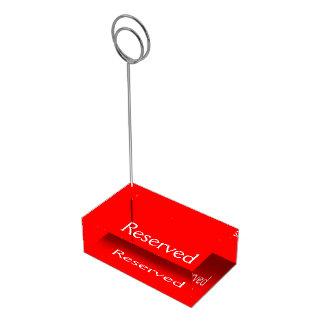 Rojo del portatarjetas de la tabla soportes para tarjetas de mesa