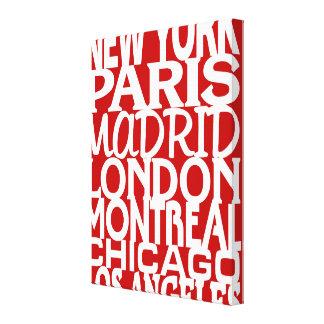 Rojo del poster de los puntos calientes de la moda impresión en lona