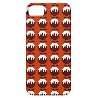 Rojo del pudín del navidad funda para iPhone SE/5/5s
