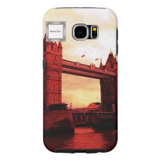 rojo del puente de la torre de Londres Fundas Samsung Galaxy S6
