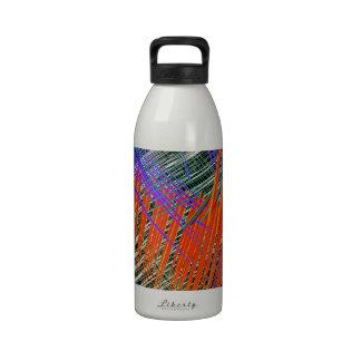 rojo del pulso botella de agua