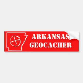 Rojo del Razorback de Arkansas Geocacher Pegatina Para Auto