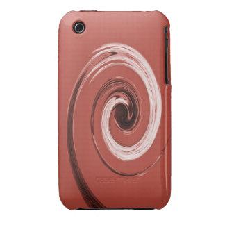 Rojo del remolino de Nelson Case-Mate iPhone 3 Protector