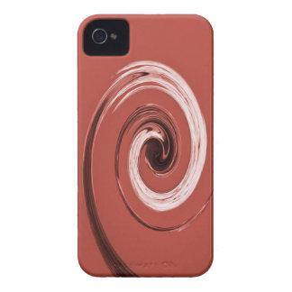 Rojo del remolino de Nelson Case-Mate iPhone 4 Protector