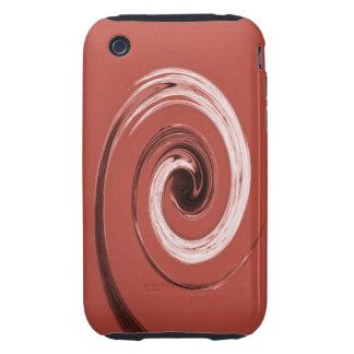 Rojo del remolino de Nelson iPhone 3 Tough Carcasas