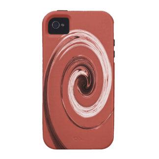 Rojo del remolino de Nelson iPhone 4 Fundas