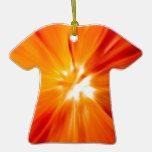 Rojo del resplandor solar y anaranjado originales ornamento de reyes magos