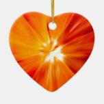 Rojo del resplandor solar y anaranjado originales ornamento para reyes magos