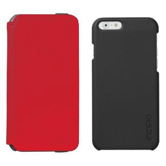 Rojo del Rojo-Rubí de los Rojo-Hibiscos de Funda Billetera Para iPhone 6 Watson