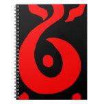 Rojo del Salamander Libros De Apuntes Con Espiral