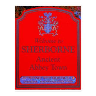rojo del sherborne tarjetas postales