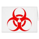 Rojo del símbolo del Biohazard Felicitación