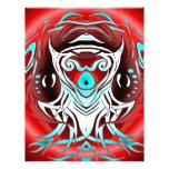 Rojo del SnakeBite contra azul Membrete A Diseño