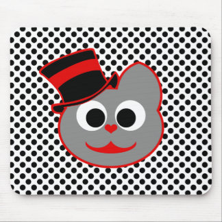 Rojo del sombrero de copa del gato del gatito - gr tapetes de raton