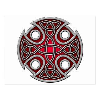 Rojo del St. Brynach y gris cruzados Postales
