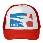 Rojo del Taekwondo Gorras
