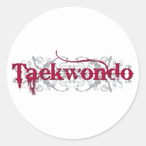Rojo del Taekwondo Pegatina