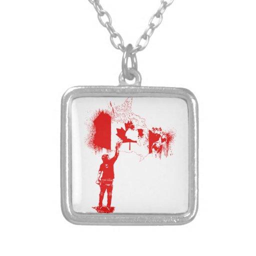 Rojo del Tagger de Canadá Colgante Cuadrado