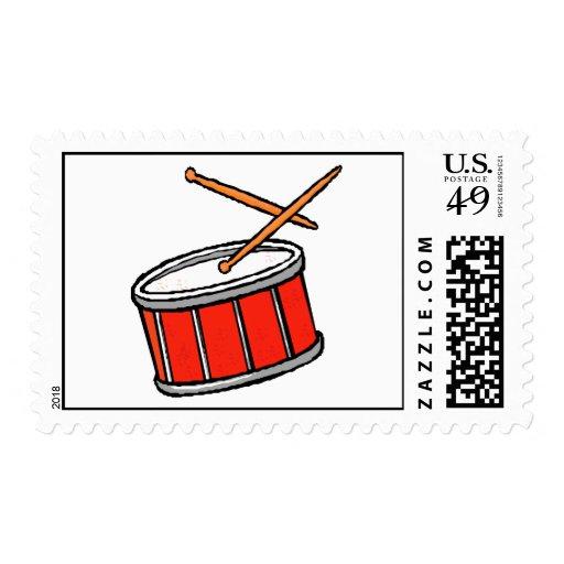 Rojo del tambor franqueo